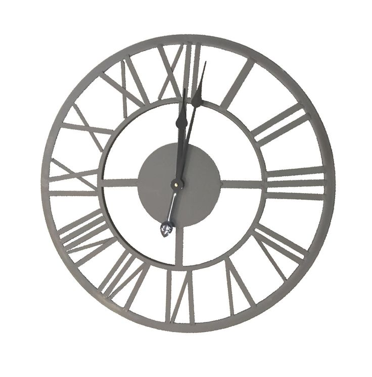 Industrial Wall Clock. Industrial inspired clock.