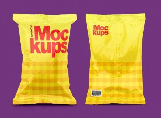 Snack Packaging Mockups | Mock Up | Mockup, Graphic design templates