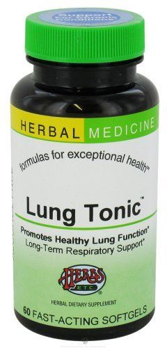 Lung Tonic - 60 softgels,(Herbs ETC) by Herbs ETC. Save 23 Off!. $23.22. Supports healthy lung function. Promotes long-term respiratory support in chronic and prolonged lung challenges. Maximizes lung capacity. Enhances oxygen absorption. Strengthens and opens up the respiratory passages.