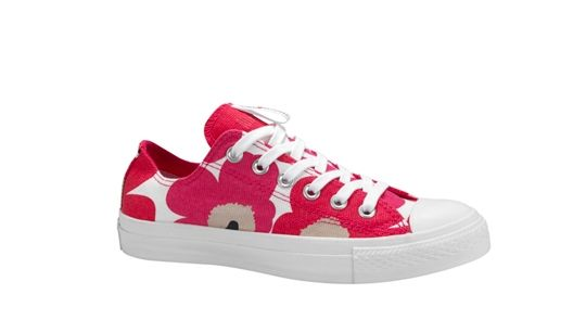 Canvass sneaker styles from the Converse collaboration with Finnish design house Marimekko.
