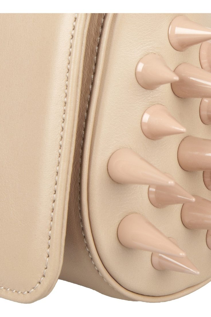 Christian Louboutin | Marquise spiked leather clutch | NET-A-PORTER.COM