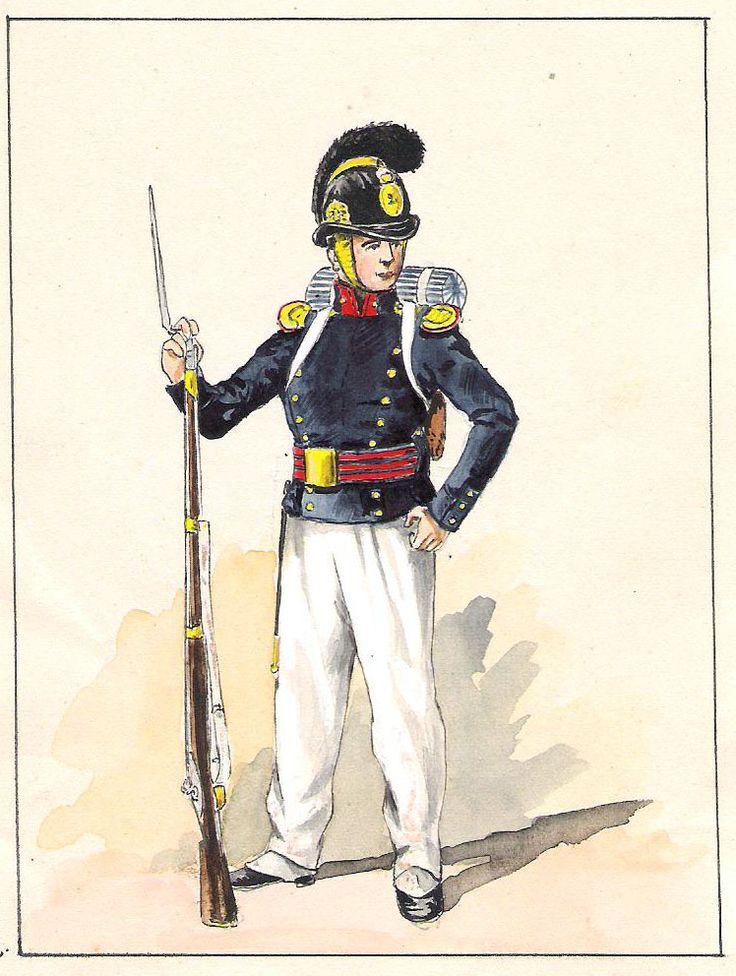 Equipage de ligne Matelot grande tenue d'été (1825-1829 )