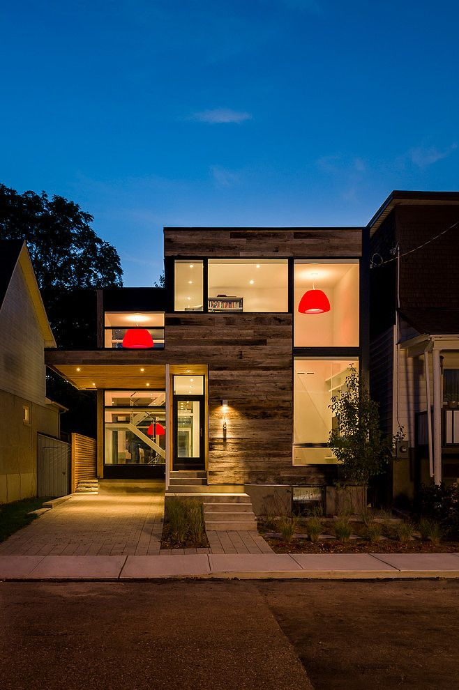 Stunning Contemporary House Designed By Christopher Simmonds Architect  Located In Ottawa, Canada. The Red Accent Lightings Are Just Perfect!