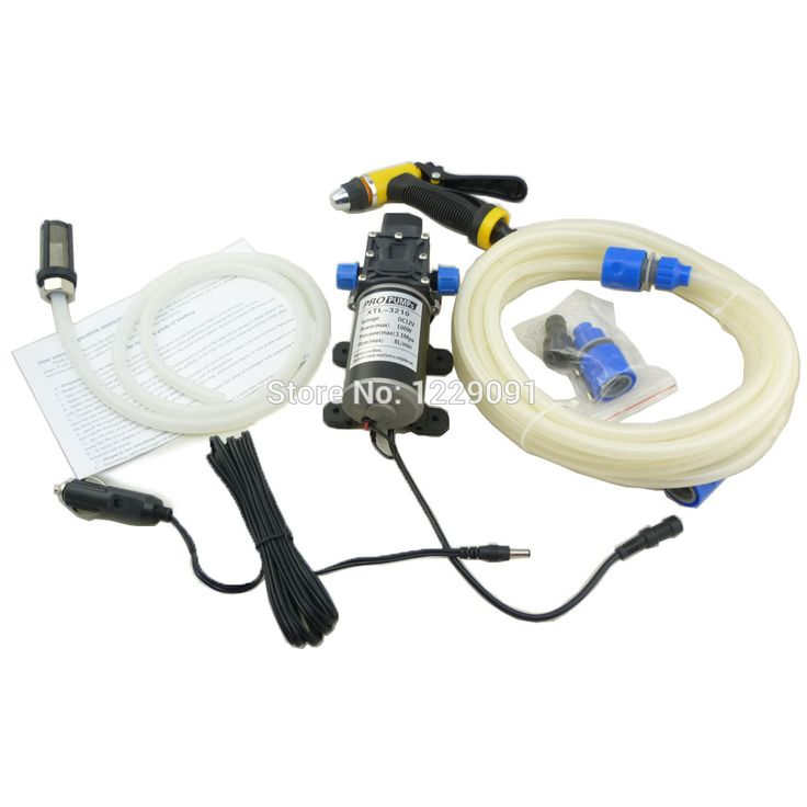 Portable 12 volt car wash machine 100w with high pressure water pump coming with car cigarette lighter adaptor