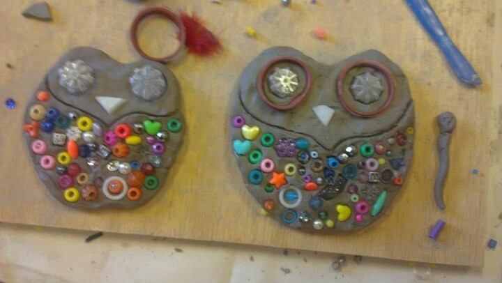 Love these owls (could be any animal or object. Just like the clay with other materials) by Reggio Children Inspired