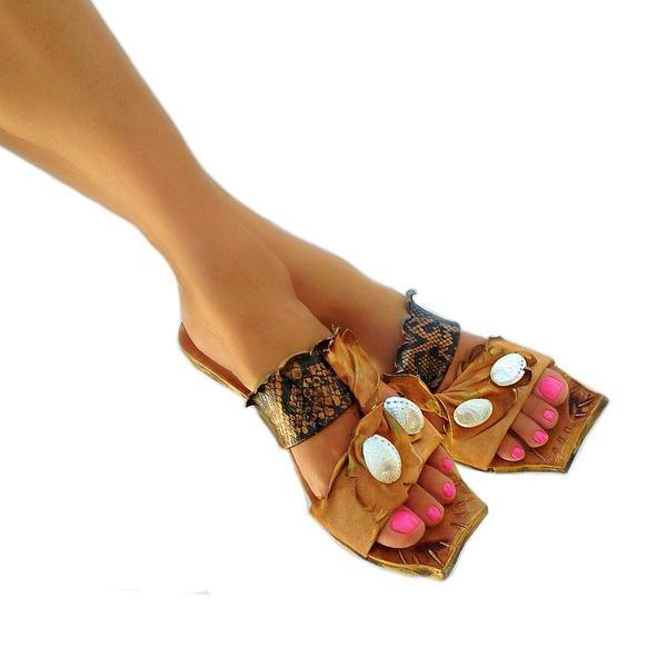 Iokasti 2 quadra - flat sandal