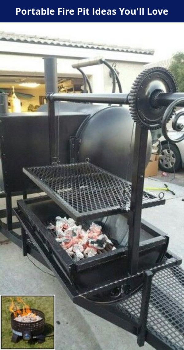 Portable Fire Pit Ideas South Africa And Fire Pit Ideas Costco In 2020 Bbq Grill Design Custom Grill Bbq Pit Smoker