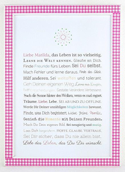 Gastgeschenke - Geschenk Erstkommunion / Jugendweihe (Mädchen) - ein Designerstück von Frau-Soth bei DaWanda