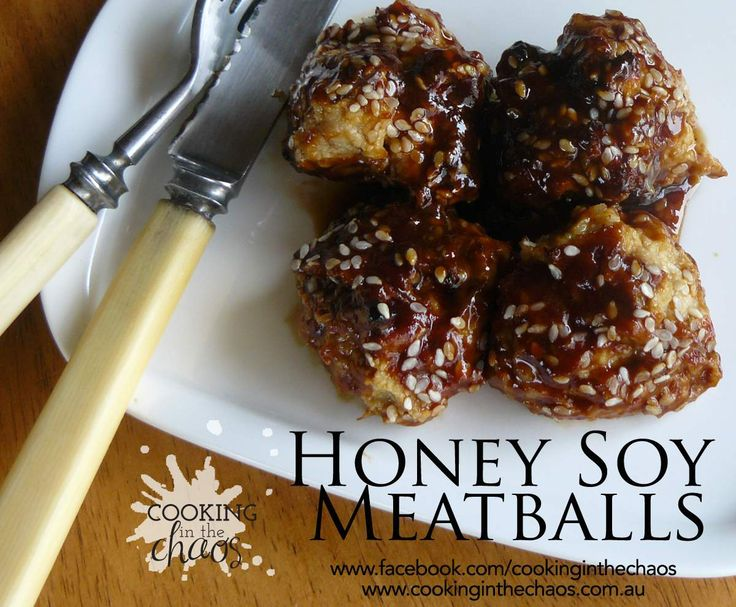 Honey Soy Meatballs by Cooking in the Chaos on www.recipecommunity.com.au