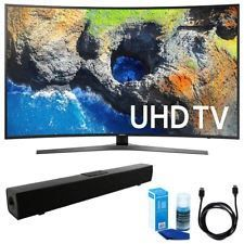 "Samsung Curved 65"" 4K Ultra HD Smart LED TV (2017 Model) w/ Sound Bar Bundle"
