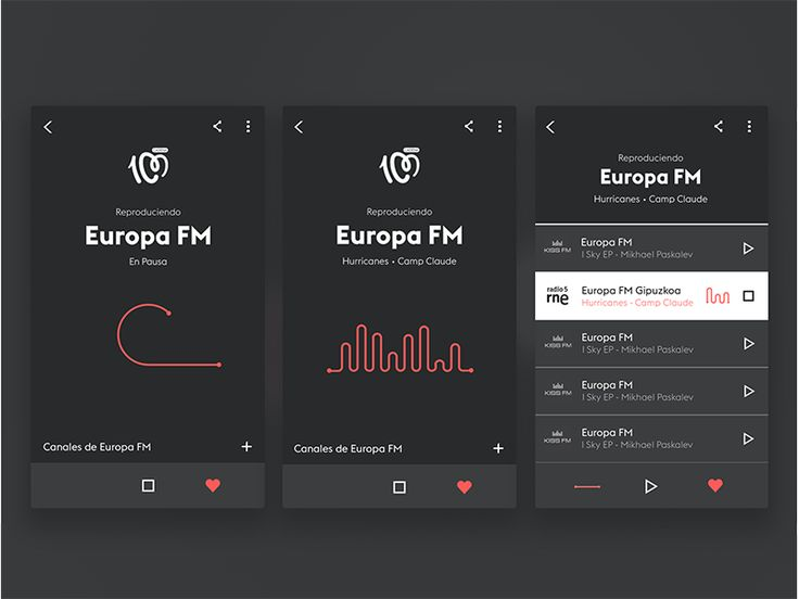 Redesign App Radios de España  by Marta de la Fuente