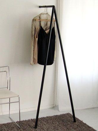 Hans van Veen & Floortje Donia for BureaudeBank | Tripod-shaped Coat Hanger: painted wood, black