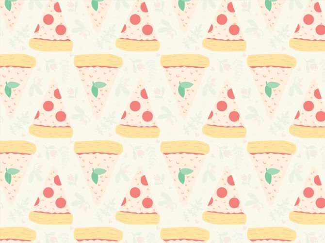 Pizza Pattern - Robin Sheldon Illustration & Design