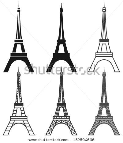 vector Eiffel Tower set - stock vector