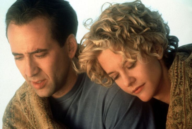 CITY OF ANGELS An angel who watches over Los Angeles falls in love with a beautiful and caring heart surgeon. Is he willing to give up his angelic abilities so he can love her as a human? (Starring: Meg Ryan and Nicolas Cage; Released: 1998)