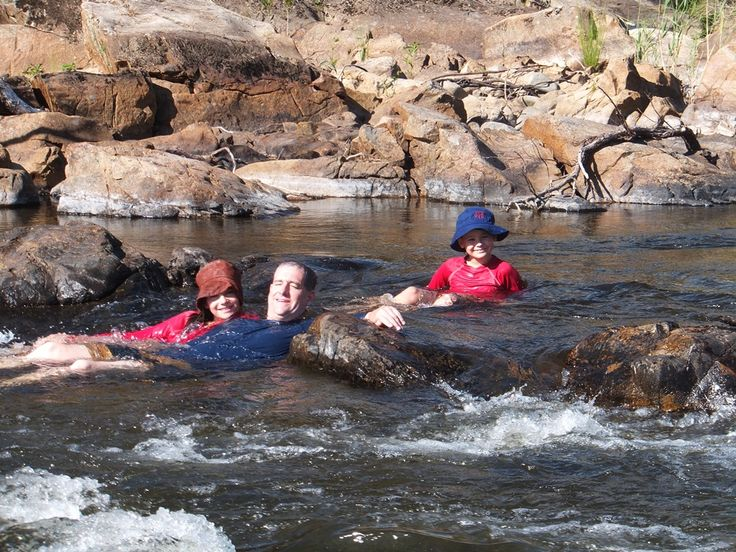 Relaxing in the rapids
