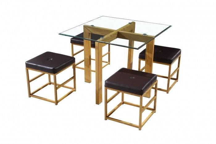 Cube Brown Dining Set