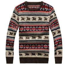 Рождественский мужской свитер с оленями
