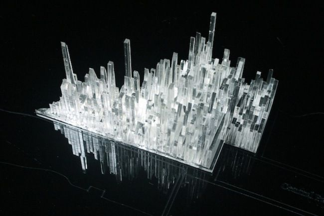 Designer John Davies lays out Manhattan's musical history in the form of a detailed 3D map.