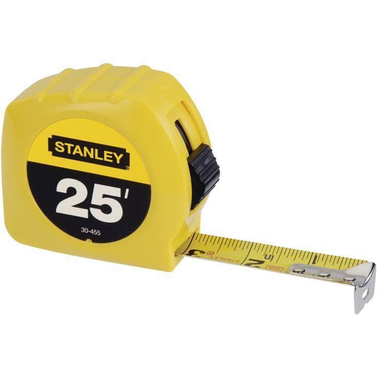Stanley tape measure 25ft highcontrast blade for easy