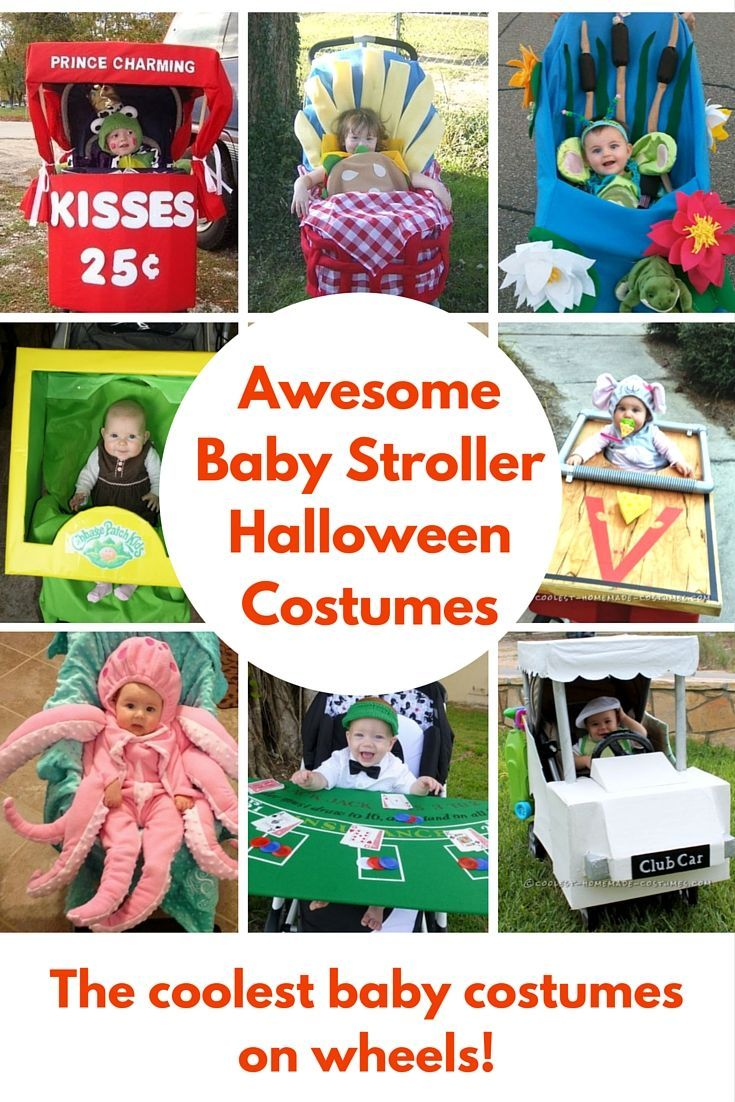 Baby Stroller Halloween Costumes - great DIY costumes for your baby or toddler!