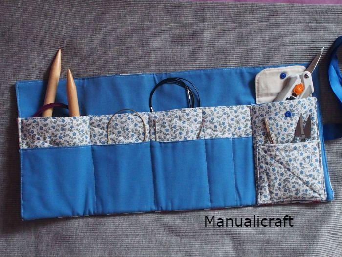 Funda Para Agujas Circulares Manualicraft Costura Creativa Almacenamiento De Agujas De Tejer Agujas Fundas