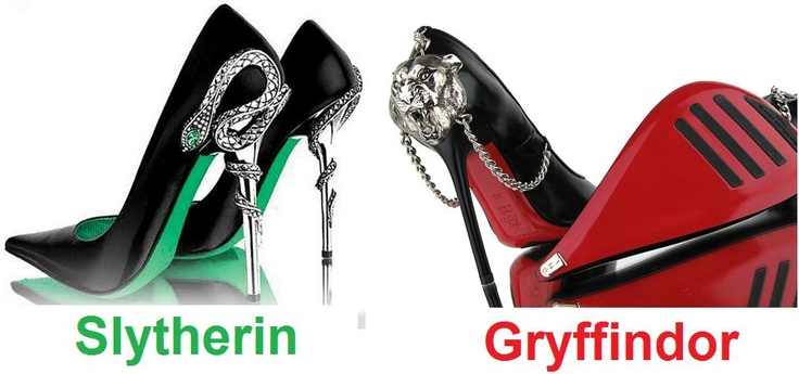 Slytherin & Gryffindor shoes <3