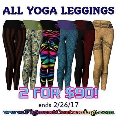 Last chance! All #YogaLeggings are 2 for $90! You'll thank yourself for getting your new favorite comfies! Sizes XS-5X! Shop the link in my bio now! #leggings #yoga #cosplay #cosplayer #comiccon #steampunk #plussize #plussizefashion #curvygirl #curvywomen #geekgirl #gamergirl #sale #boho #mandala #rainbow #lisafrank #zebra #wasteland #mermaid #yogapants #fitnessfashion #fashionfitness #gymfashion #gymlife #nerdygirl #damask #ecofriendly #allsizesarebeautiful
