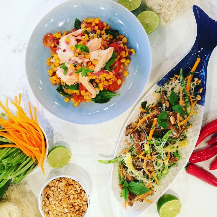 From a hearty salad to an easy one-tray supper, Phil's weeknight dinner ideas prove summery can still mean satisfying, plus they're fast and fresh - perfect for a busy weeknight! Whet your appetite with spicy mackerel noodle salad and a one tray salmon and summer veg bake.