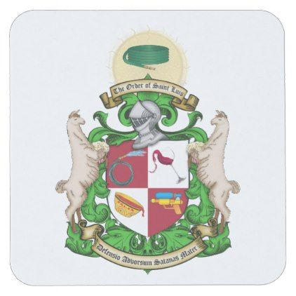 Order of St. Luis Coat of Arms Coaster  $1.45  by Order_of_Saint_Luis  - custom gift idea