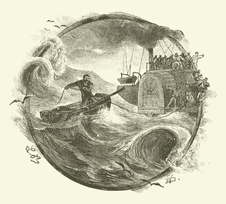 Jules Verne Illustrations | oban bay the book is illustrated by leon benett the first illustration ...