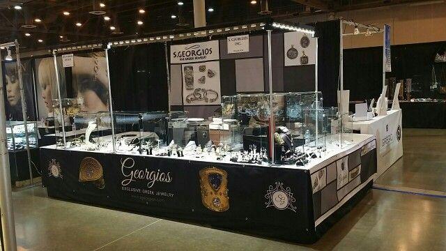 Fine jewelry display booth using show off lighting. #jewelryshow…