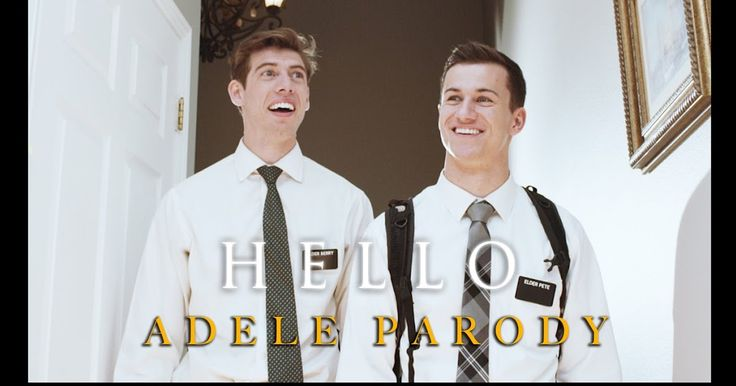 """These dudes made an Adele """"Hello"""" parody as Mormons...it's actually really good."""