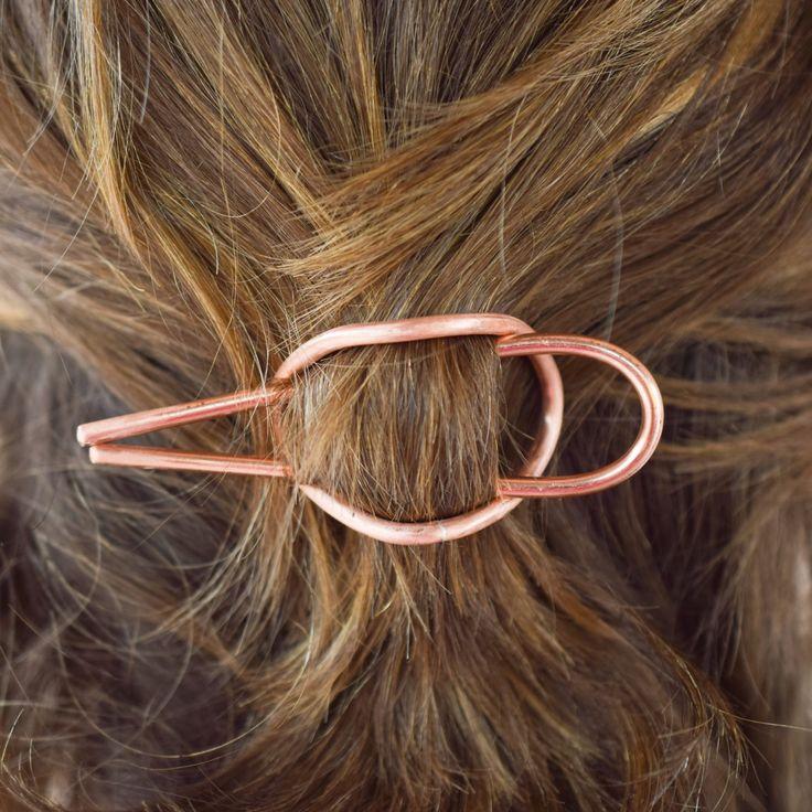 curved copper hair cuff!