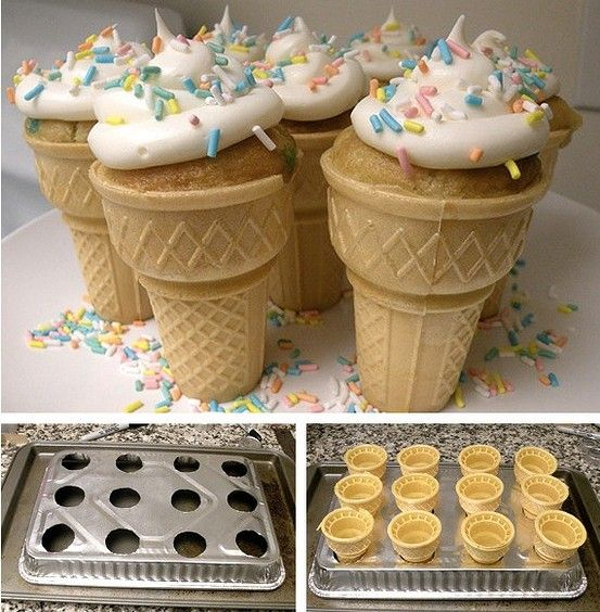 Cupcake Cones and a DIY cupcake cone pan @ House of Hepworths