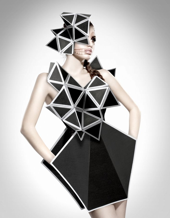 Geometric Fashion - 3D dress form; conceptual fashion design structures