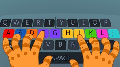 BBC Bitesize Dance Mat Typing - teaches touch typing