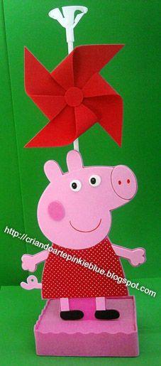 Pinkie Blue Artigos para festa: Centro de mesa da Peppa Pig de eva