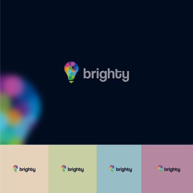 Logo and business cards for Brightly, a small Project Management consultancy start up by [A]