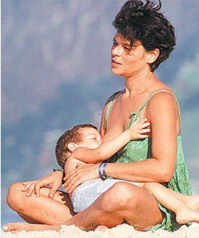 Cassia e seu filho Chicão - Rio de Janeiro