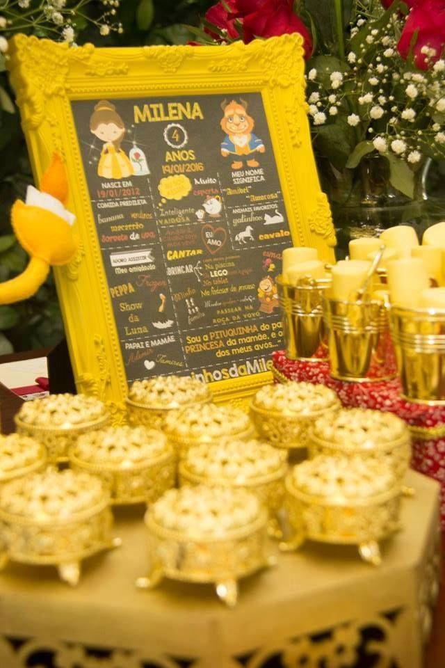 A Bela e a Fera – 4 anos da Milena – Blog Inspire sua Festa