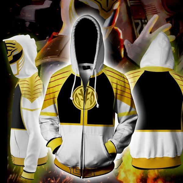 Power Ranger Costume Zip Hoodie