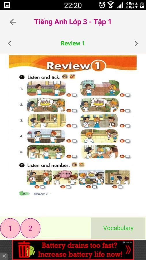 Tieng Anh Lop 3 - English 3 T1- screenshot