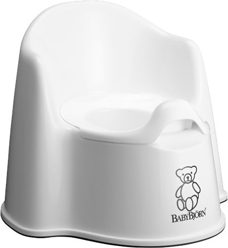 Baby Bjorn Potty Chair. Our seat of choice. Comfortable enough to encourage them to sit for awhile. Great size for younger learners.