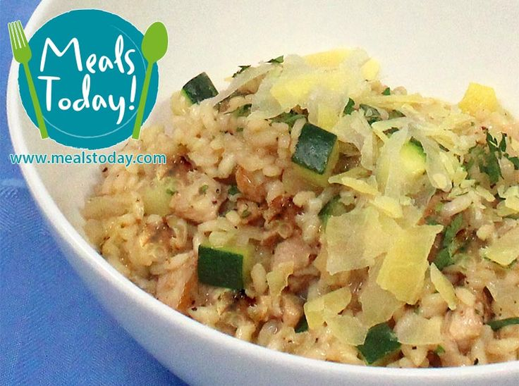 Lemon Thyme Chicken Risotto with Zucchini & Lemon Pepper  Available to order now, for delivery on Tue 18th November  www.mealstoday.com    #mealstoday
