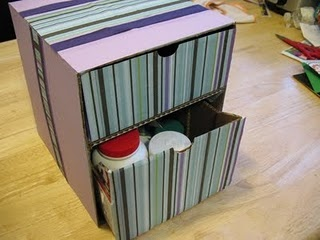 how to make drawer dividers from shoe boxes