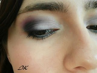 dark blue pink eye makeup