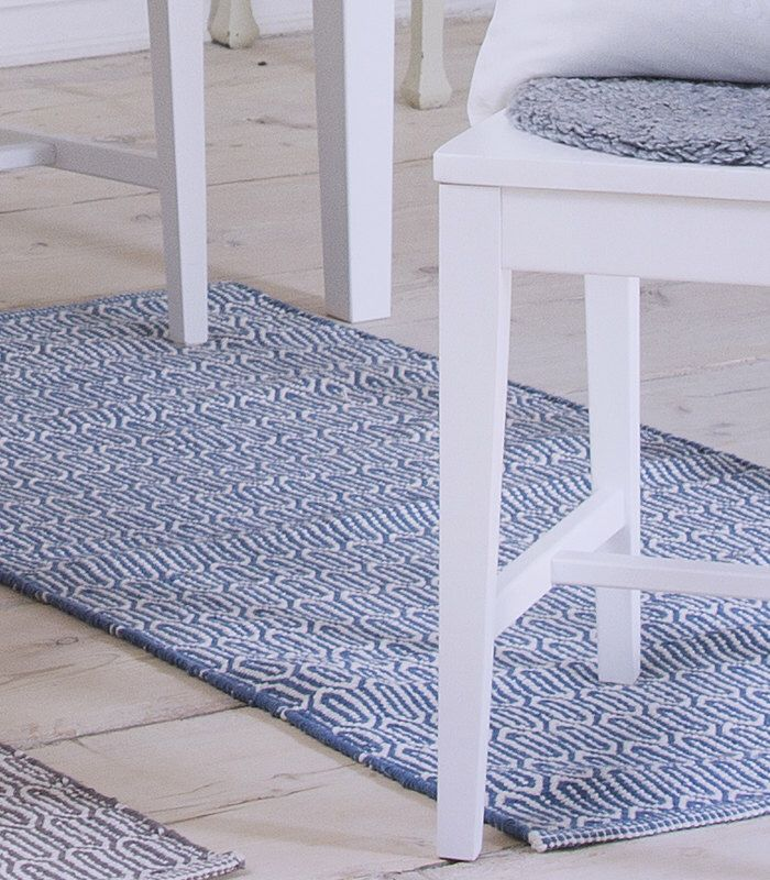 Scandinavian patterned blue floor runner & rug by Skandihome on Etsy https://www.etsy.com/listing/219406116/scandinavian-patterned-blue-floor-runner