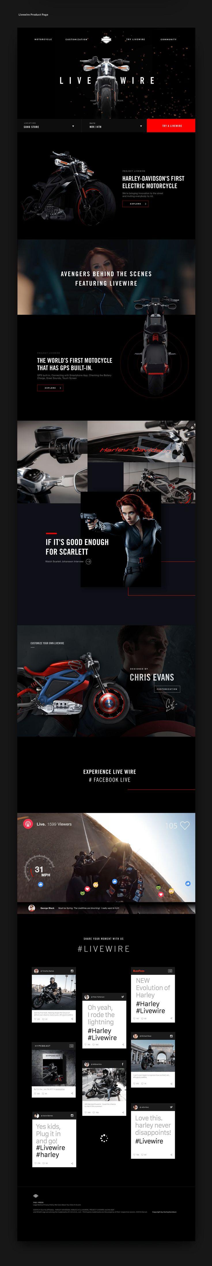 Harley Davidson - Project Livewire Website Redesign on Behance