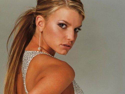 Best Jessica Simpson Hairstyles: Jessica Simpson Straight Hairstyles With Bangs ~ Celebrity Hairstyles Inspiration